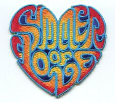SUMMER OF LOVE heart shaped EMBROIDERED IRON-ON PATCH woodstock festival, peace