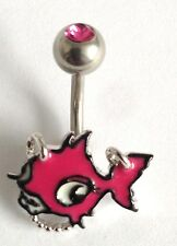 PUNKYFISH NAVEL/BELLY BAR- For The Girl With Attitude! - Rapid Same Day Despatch