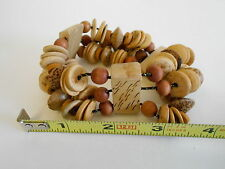 "BEACH JEWELRY HANDMADE 5"" WOODEN BRACLET"