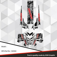 SLED GRAPHICS DECAL STICKER WRAP POLARIS 600 800 PRO-RMK RUSH 2010-2015 SA0365