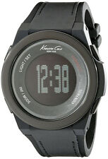 Kenneth Cole 10022805 New York Connect Black Dial Silicone Strap Men's Watch