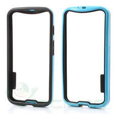 Custodia BUMPER Nero Azzurro per Motorola Moto X cover case bordi termoplastica