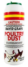 Poultry Dust 400g David Grays Maldison Lice Fleas Feather Mites Ticks Pest