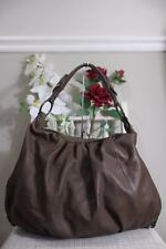 Juicy Couture Brown Leather Brass Stud Hobo Shoulder Bag (PU120