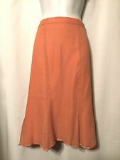 TERRY LEWIS CLASSIC LUXURIES Peach Silk Skirt 3X Plus NWT Lined Knee Length Full