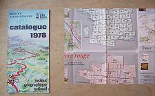 Catalogue cartes touristiques IGN 1978