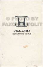 1990 Honda Accord 4 door Sedan Owners Manual Owner User Guide Book DX EX LX