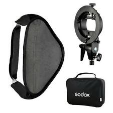 Godox S-Type Speedlite Bracket Bowens Mount Holder + 80 x 80cm Softbox