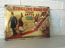 "Reproduction Ringling Bros Barnum and Bailey Circus Sign ""The Man That Walks On"