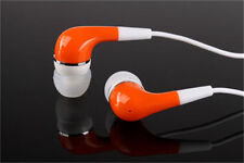 3.5mm In-ear Stereo Earbuds Headphones Earphone for Smartphone Tablet PC Orange