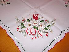 Weihnachtsdecke Tischdecke Mitteldecke mit Stickerei und Goldfäden 85x83 cm, NEU