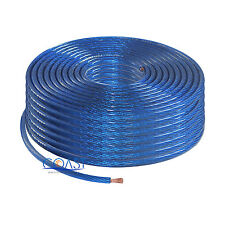 Car Amp Audio Power Wire Ground Cable 8 Gauge AWG 250 Ft. - Blue
