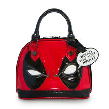 Marvel Comic Deadpool Eyes Faux Patent Leather Mini Dome Bag by Loungefly