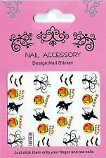 NEU: 20 Halloween Water Nail Sticker Tatoo W18