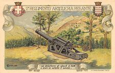 C4628) ALESSANDRIA 2 REGGIMENTO ARTIGLIERIA PESANTE. ILLUSTRATORE OLIVETTI.