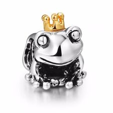 Frog King European Silver Charm Bead FIT Sterling 925 Bracelet&Necklace Chain c