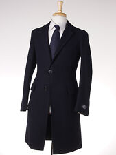 NWT $3395 BELVEST Navy Blue Twill Unstructured Wool Coat 38 R (Eu 48) Overcoat