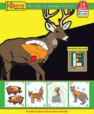 GunFun Animals - Vital Organs 10 pack 19 x 24 hunting paper shoot target gun fun