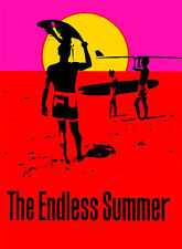 The Endless Summer A1 Movie Poster High Quality Canvas Art Print