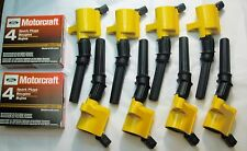 98-2011 CROWN VIC MARQUIS TOWN C 8 YELLOW COIL DG508 & 8 MOTORCRAFT PLUG SP493
