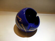 Vintage round cobalt blue Hens ceramic advertising ashtray (Dehme West Germany)