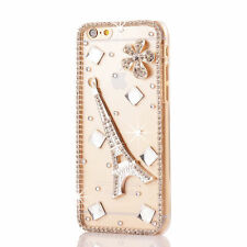 3D Luxury Clear Bling Diamond Rhinestone Crystal Hard Case Cover For Cell Phones