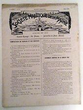 Société Nautique de la Marne 1910/03 Bulletin Trimestriel SNM aviron rowing