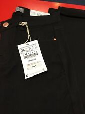 Ladies Zara Black Slim Skinny Jeans Uk 6 New With Tags