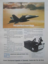9/1976 PUB SMITHS INDUSTRIES HUD HEAD-UP DISPLAY MCDONNELL DOUGLAS F-18 AD