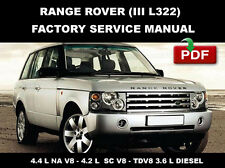 RANGE ROVER III L322 2007 - 2010 DIESEL FACTORY SERVICE REPAIR WORKSHOP MANUAL