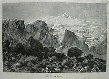 old print antique engraving RUSSIA RUSSIE MONTE MOUNT EBRUZ ELBRUS CAUCASE 1892