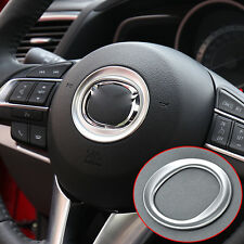 FIT FOR 2012- MAZDA CX-5 CX5 STEERING WHEEL PANEL CHROME TRIM COVER GARNISH RING