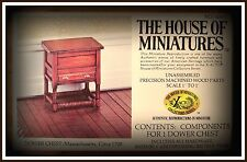 RARE DOLLHOUSE HOUSE OF MINIATURES DOWER CHEST KIT, COLONIAL ANTIQUE REPLICA