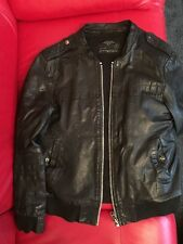 ALL SAINTS LEATHER Bomber JACKET SIZE UK X-Large Excellent Condition