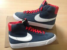 Women's Nike Blazer Mid Suede size 5.5 UK 6 UK Blue White Red RRP £64.99