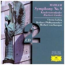 MAHLER - SYMPHONY 9/KINDERTOTENLIEDER (VON KARAJAN) - 2 CDS