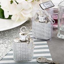1 Bling Flask Key Chain 1 oz Wedding Favor Beach Theme Party Bachelorette Gift