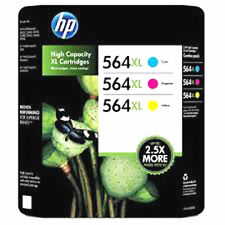 HP 564XL Ink Genuine Cartridges Color Set Cyan Magenta Yellow For C5400 7500