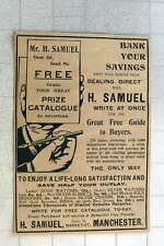 1902 Save Lots Of Money By Dealing Direct With H Samuel