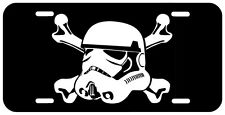Stormtrooper Skull and Bones License Plate Tag New USA star wars trek LCT014