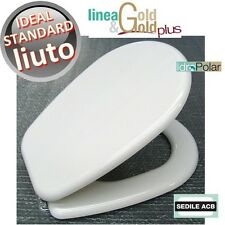 NUOVO SEDILE WC LIUTO IDEAL STANDARD MARCA ACB ERCOS GOLD MADE IN ITALY COPRIWC