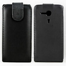 Good Leather Skin Flip Hard Phone Case Cover For Sony Ericsson Xperia SP M35h