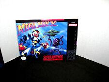 """Super Nintendo Snes  MEGA MAN X  Box Cover Photo Poster 8.5""""x11""""  No Game"""