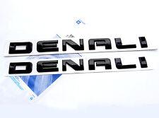 2x OEM Black Denali Nameplate EMBLEMs for GM 07-16 Yukon Sierra HD Terrain WU