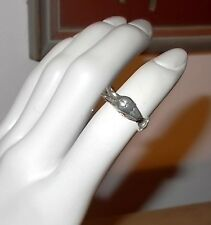 VINTAGE STERLING SILVER FLYING DRAGON RING - SIZE 5½ - FREE PRIORITY