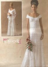 UNCUT 4714 McCalls Sewing Pattern Flared Fitted Bridal Gowns Plus Size Wedding