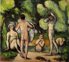 IMPRESSIONISMUS P. Cezanne FÜNF MÄNNLICHE BADENDE AKT FAKSIMILE 67 BÜTTENPAPIER