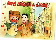 CPA Bons Baisers de Lyon-Gnafron et Guignol dans le Vieux Lyon (235750)