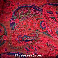 Kaffe Fassett PAISLEY JUNGLE Rust Red GP60 Quilt Fabric by the Quarter Yard FQ