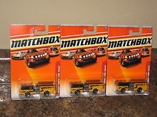 2010 Matchbox Pierce Dash Fire Truck Lot of 3 Orange Firetruck Low Shipping!